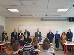 Visite de la Directrice académique à l'ESCR