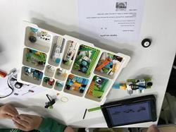 Les 6èmes de Demotz programment des robots Lego.